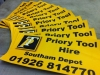 Tool hire signs