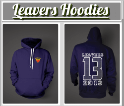 Leavers gear. personalised hoodies, polo shirts and t shirts