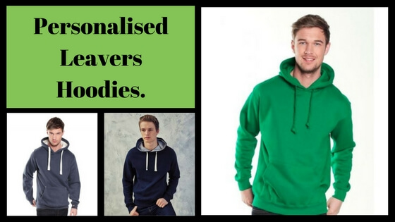 Personalised Leavers Hoodies.
