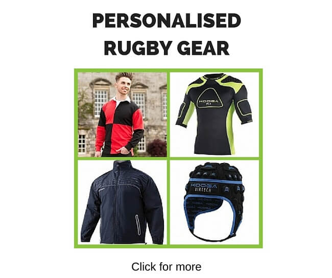 Personalised rugby gear