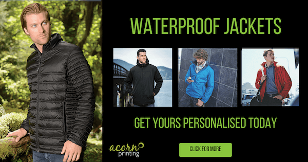 Branded Waterproof Jackets - Acorn Printing News