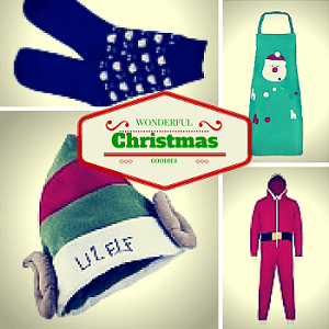 Christmas hats, onesies and aprons
