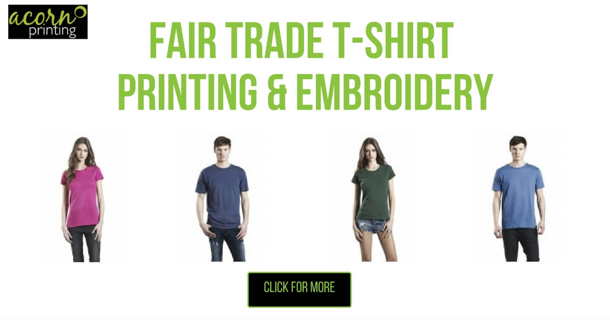 fair trade t shirt printing and embroidery organic and