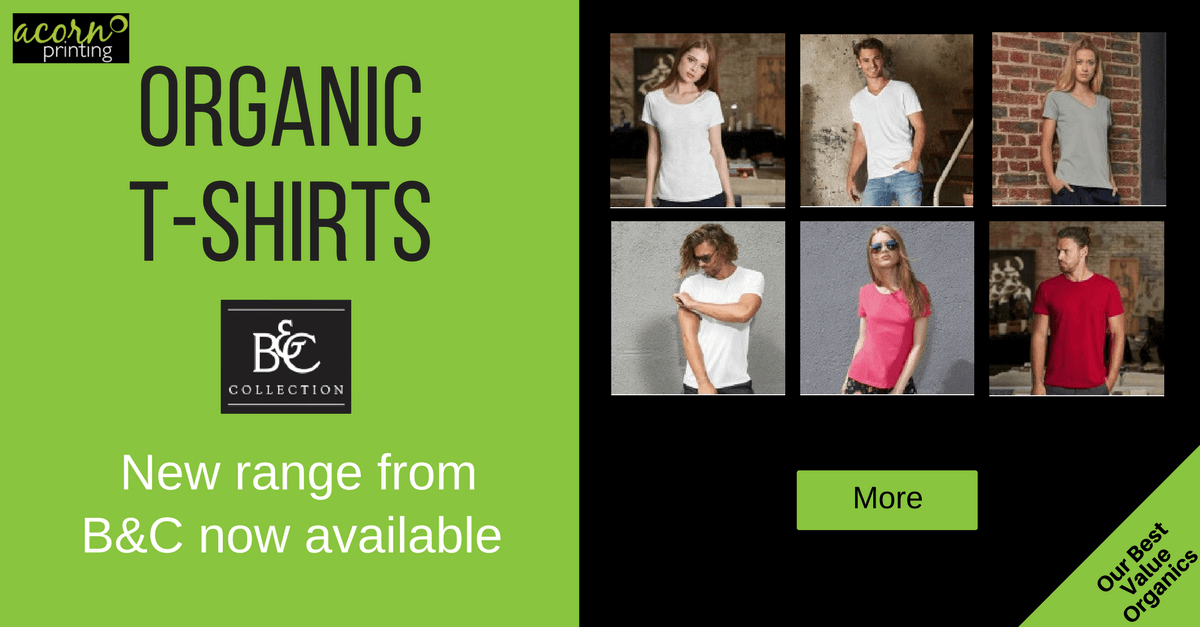 Organic t-shirts from B&C. Ethical and ecological at a great price