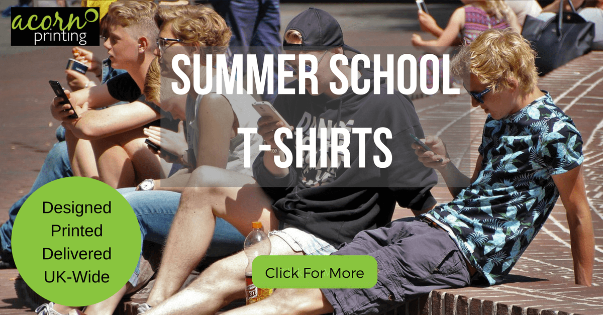 summer school t-shirts printed by Acorn Printing