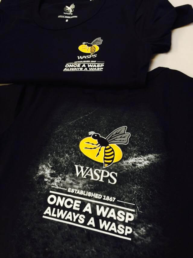 Wasps promotional t-shirts printed