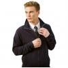 Full zip sweatshirt with cadet collar