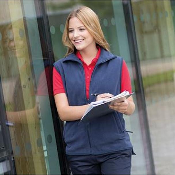 Women's sleeveless microfleece jacket