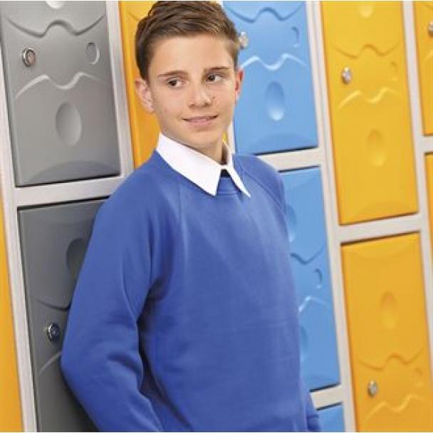 Kids Coloursure curved raglan sweatshirt