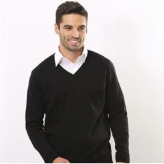 V-neck fully fashioned jumper