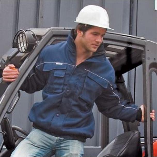 Work-Guard zip sleeve heavy duty pilot jacket