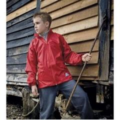 Junior windcheater in a bag