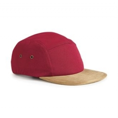 Suede peak 5 panel cap