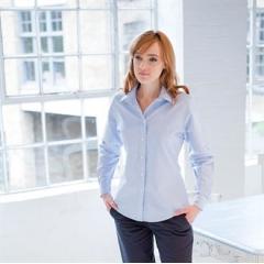 Women's classic long sleeved Oxford shirt
