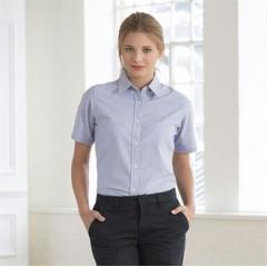 Women's short sleeve classic Oxford shirt
