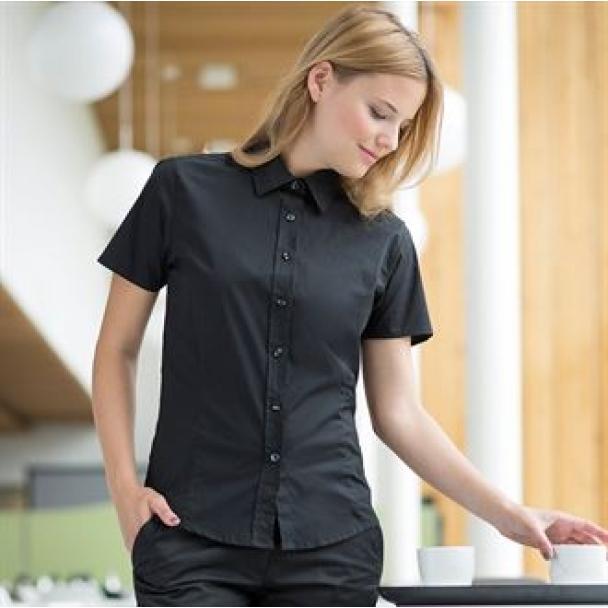 Women' short sleeve fitted shirt