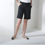 Women's Teflon coated flat fronted chino shorts