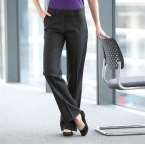 Women's flat front bootleg trousers