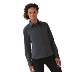 Women's long sleeve classic twill shirt