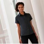 Women's short sleeve classic twill shirt