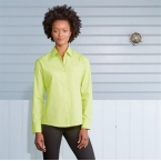 Women's long sleeve poly cotton easycare poplin shirt