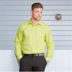 Long sleeve poly cotton Easycare poplin shirt