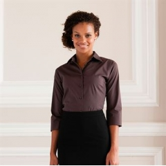 Women's A¾ sleeve easycare fitted shirt