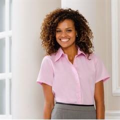 Women's short sleeve ultimate non-iron shirt