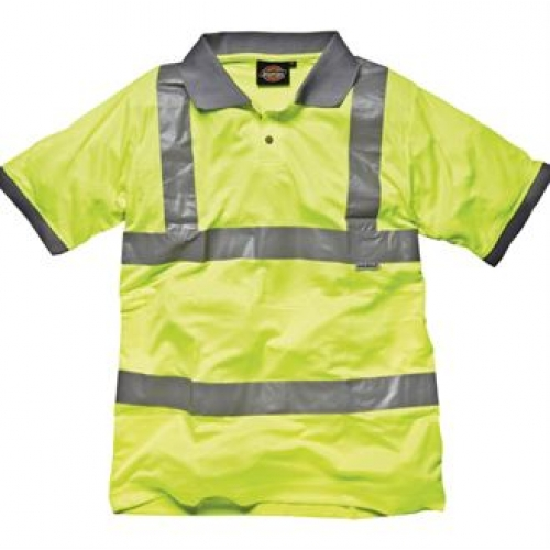 Hi Vis Polo Shirt Wd043 Printed Embroidered Bright