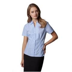 Women's pinstripe blouse short sleeved