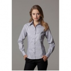Women's contrast premium Oxford shirt long sleeve