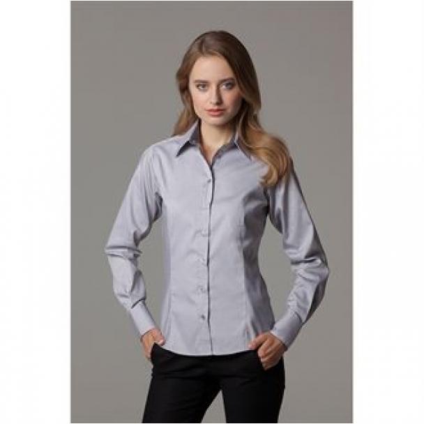 Women's contrast premium Oxford shirt long sleeve