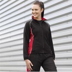 Women's piped microfleece jacket