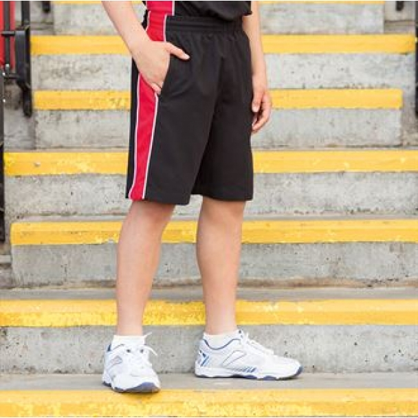 Kids piped shorts