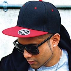 Core Bronx original flat peak-snapback dual colour cap
