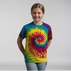 Kids rainbow tie-dye shirt