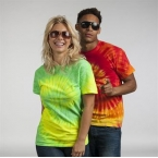 Rainbow tie-dye shirt