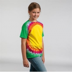 Kids rainbow sunburst T