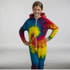 Kids rainbow tie-die onesie