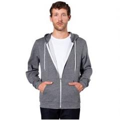 Unisex salt and pepper zip hoodie (MT497)