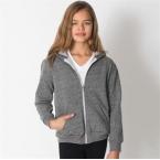 Kids/youth salt and pepper zip hoodie (MT297)
