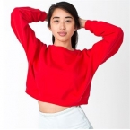 California fleece cropped sweatshirt (5336)