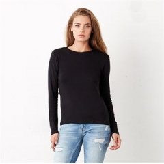 Baby rib long sleeve crew neck t-shirt