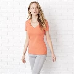Jersey deep v-neck t-shirt