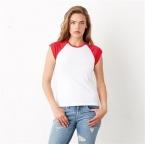 Baby rib cap sleeve contrast raglan t-shirt