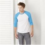 Tri-blend 3/4 sleeve baseball t-shirt