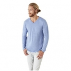 Tri-blend long sleeve v-neck t-shirt