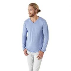 Tri-blend long sleeve v-neck t-shirt