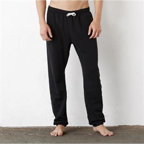 Unisex poly/cotton fleece long scrunch pant