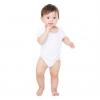 Short sleeve baby rib ringer one-piece
